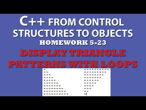 C++ Display Triangle Patterns With Nested Loops (Ex 5.23)