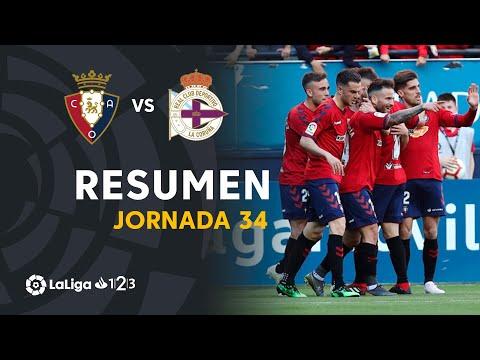 Resumen de CA Osasuna vs RC Deportivo (2-1)
