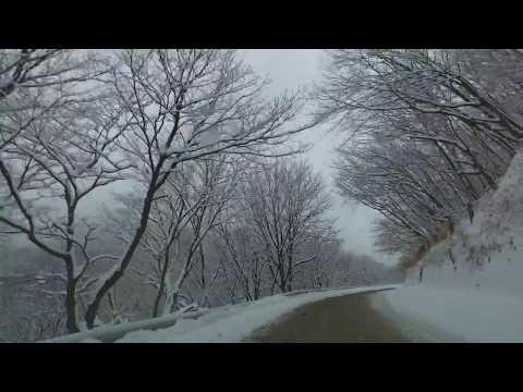 雪景色のいろは坂 車載動画 馬返から黒髪平まで