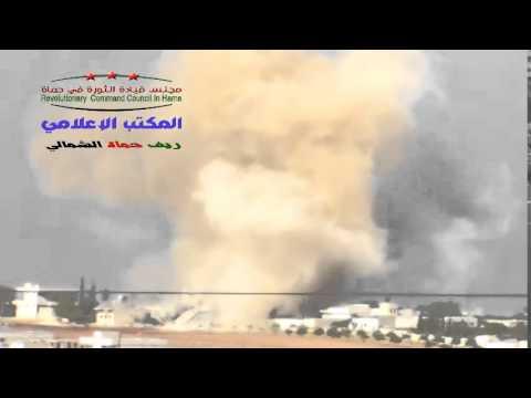 حماة : اللطامنة : قصف بالطيران المروحي على المدينة