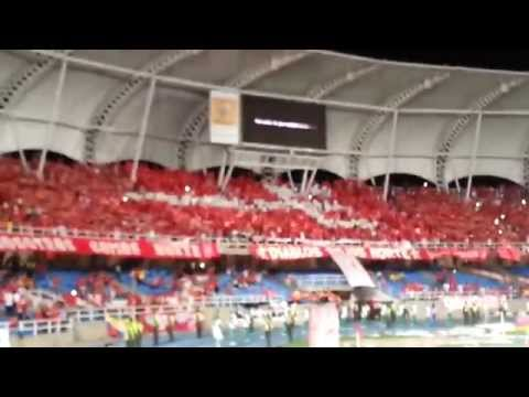 Salida América de Cali vs Jaguares de Córdoba - Final Torneo Postobón I - Baron Rojo Sur - América de Cáli