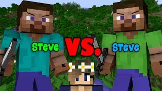 An insane clever trap fight between blue Steve and green Steve!➜SERVER IP: mc.trovical.comWEBSITE: https://www.trovical.com/STORE: https://store.trovical.com/ALEX vs ALEX: https://www.youtube.com/watch?v=PTCOG7frYMM-------------------------------------------➤Subscribe here: http://goo.gl/RI2d5B-Actors: AdvanceLAMP, Juultjuh, ComboDoge, Styrophantom, Colamafia, Yeassy-Builder: AdvanLAMP, TheGoldenArmorWho will win the fierce battle of traps and tricks? -- Find Me! --------➤Instagram: http://goo.gl/28SQ6y➤Facebook: http://goo.gl/mWdI1y➤Twitter: https://twitter.com/TheGoldenArmor(P.s. Wanna help? You can add subtitles to this video!)My second channel: https://goo.gl/q5pxPABucketPlanks: https://goo.gl/4RQzK6SUPER NOOB vs. PRO: https://www.youtube.com/watch?v=f9y9CItWH8w&t=2sStupid Noobs vs Legendary Pro: https://www.youtube.com/watch?v=LHl0JZ2cAt4--Credits----http://freesound.org/ -Production Music courtesy of Epidemic Sound: http://www.epidemicsound.com-freesfx.org-Texture Pack: http://www.planetminecraft.com/texture_pack/blocksmith-hybrid-75-animations/Inspired by BucketPlanks Alex vs Steve series and Vintagebeef Steve vs. Steve series.This is just a fictional story and for your entertainment :)!