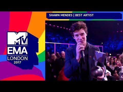 Shawn Mendes Accepts 'Best Artist' Award   MTV EMAs 2017