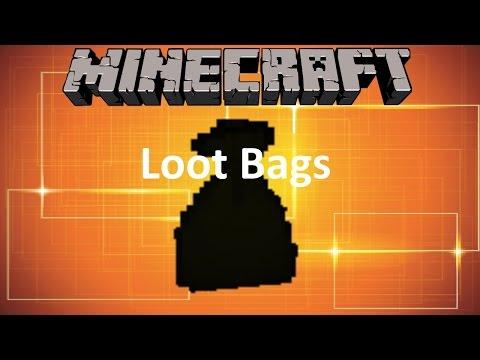 MINECRAFT: LOOT BAGS MOD (1.10.2 MOD SHOWCASE)