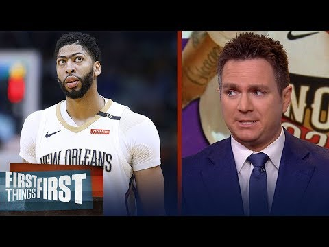 Chris Mannix believes Anthony Davis is 'going to end up' with the Celtics | NBA | FIRST THINGS FIRST