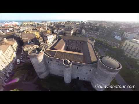 il castello ursino di catania - bellissime riprese aeree.