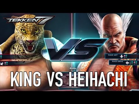 Tekken 7 - PS4/XB1/PC - King VS Heihachi (Character Gameplay) (видео)