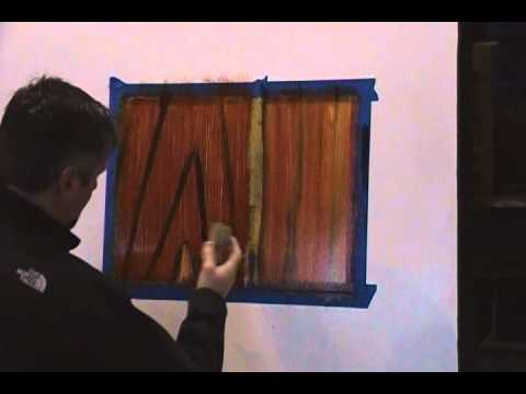 simple mahogany, Wood graining technique