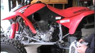 10. Honda TRX 400EX Brake Replacement, Chain Adjustment and Oil Change