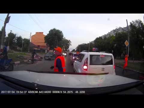 Авария с мотоциклистом в Ульновске
