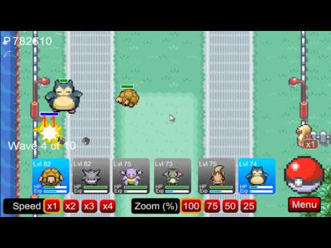 (PTD) Pokemon Tower Defence part 55 - Route 17, Beating Zapdos