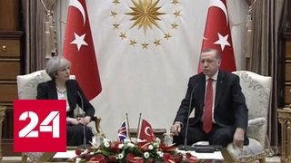 Тереза Мэй провела переговоры с  Реджепом Тайипом Эрдоганом