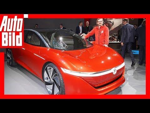 VW I.D. Vizzion Autonome E-Studie / Sitzprobe / Det ...