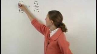 Adding Like Fractions - MathHelp.com - Pre Algebra Help