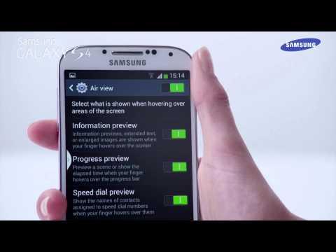 Samsung Galaxy S4 - prezentacja funkcji Air view