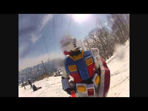 日本滑雪場 鋼彈又出場!你不好好保護地球幹嘛又跑來滑雪