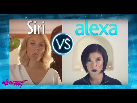 SIRI vs ALEXA - A.I. RAP BATTLE!!!!! (видео)