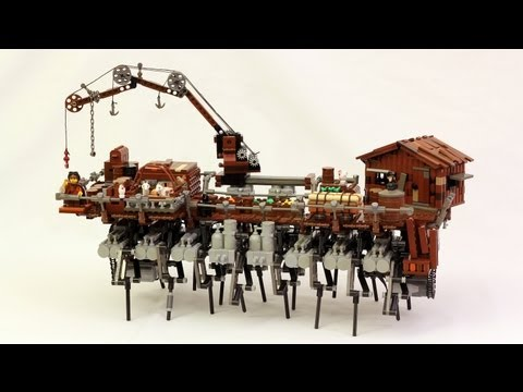 Land Ship Amagosa LEGO Steampunk Walking Ship
