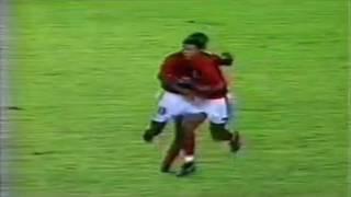 1° jogo da final da Supercopa Libertadores de 1993 - Flamengo 2 x 2 São Paulo. FLAMENGO: G 1 Gilmar LD 2 Charles Guerreiro...