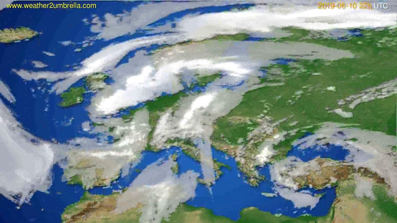 Cloud forecast Europe // modelrun: 00h UTC 2019-06-08
