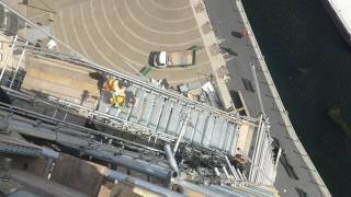London canariworf scaffolding creazy workers 💪💪💪