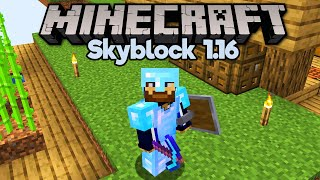 How To Get Diamond Gear in Skyblock! • Minecraft 1.16 Skyblock (Tutorial Let's Play) [Part 10]
