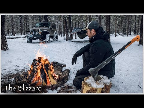 Snow Camping in Blizzard like Conditions