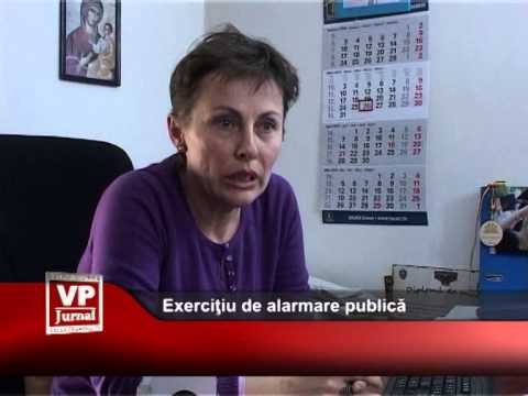 Exerciţiu de alarmare publică