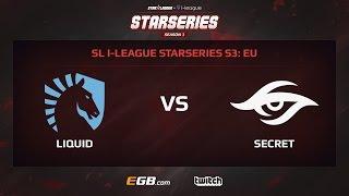 Team Liquid vs Team Secret, Game 1, SL i-League StarSeries Season 3