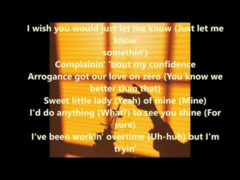 Jacquees - Never Say Goodbye (Lyrics On Screen)