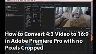 How to Convert 4:3 Video to 16:9 in Adobe Premiere Pro with no Pixels Cropped. You can easily see in this video how to nest your 4:3 video in a 16:9 video frame, or resize your video vertically to fit into a 16:9 frame. I do not recommend squashing your video vertically to do this. Still some people ask how it's done - so here's the quick tutorial explaining how.