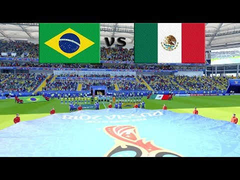 Brazil vs Mexico Full Match & Prediction 2nd July 2018 Round of 16 : FIFA 18 Gameplay