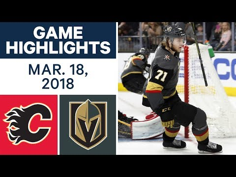 Video: NHL Game Highlights | Flames vs. Golden Knights - Mar. 18, 2018