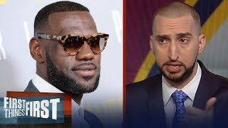 Video Nick Wright on why LeBron's leaving Cavs after Finals vs Warriors | NBA | FIRST THINGS FIRST MP3, 3GP, MP4, WEBM, AVI, FLV Juni 2018