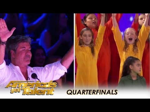 Voices Of Hope Choir: Simon Cowell Holds Back TEARS After This! | America's Got Talent 2018 (видео)