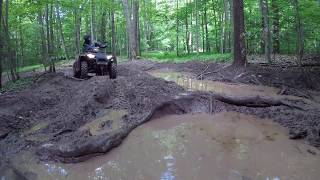 6. #13 Polaris Sportsman XP 1000 Matte Copper LE on the Bagpipes ATV Trail Riding Tall Pines Part 4