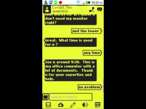 Video of 1998 Go SMS Pro Theme