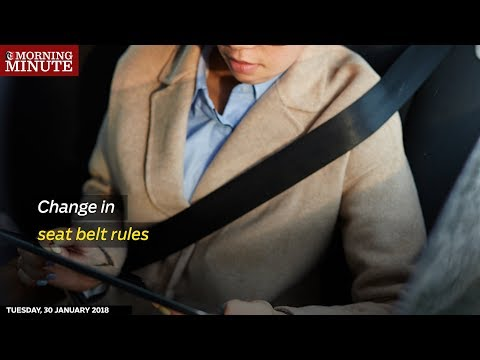 All passengers inside a vehicle will have to wear seat belts, including those sitting in the back seat.