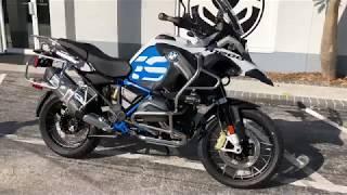 6. 2018 BMW R 1200 GS Adventure Rallye Light White & Cordoba Blue at Euro Cycles of Tampa Bay