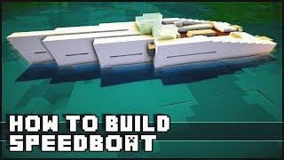 Minecraft Vehicle Tutorial - How to Build : Speedboat
