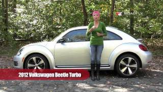 VW Beetle Turbo 2012 Test Drive&Car Review By RoadflyTV With Emme Hall