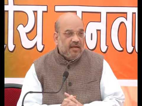 Press Conference by Shri Amit Shah in Gorakhpur, UP