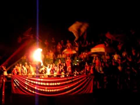 Barra del Caracas FC en Guanare - Alentando sin Luz - Los Demonios Rojos - Caracas