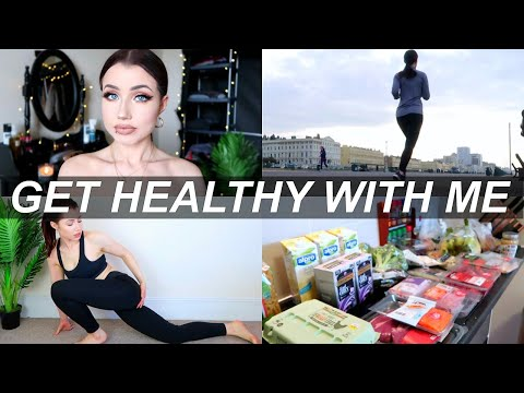What I Eat, Grocery Haul & Exercise Routine | GET HEALTHY WITH ME