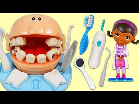 Play Doh Dr. Drill N Fill Visits Disney Doc McStuffins Dentist & Gets Tooth Fairy Surprise Toys!_Fogorvosi rendelőben. Heti legjobbak