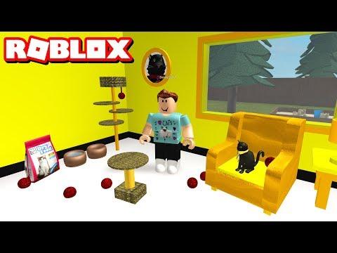 BUILDING SIR MEOWS A LOT'S ROOM!!   Roblox Bloxburg (видео)