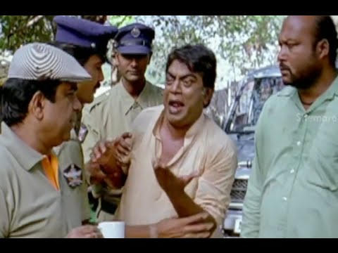 Badradri Full Movie Scenes - Jeeva surrenders himself to Brahmanandam - Nikitha, Raja