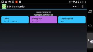 SSH Commander YouTube video