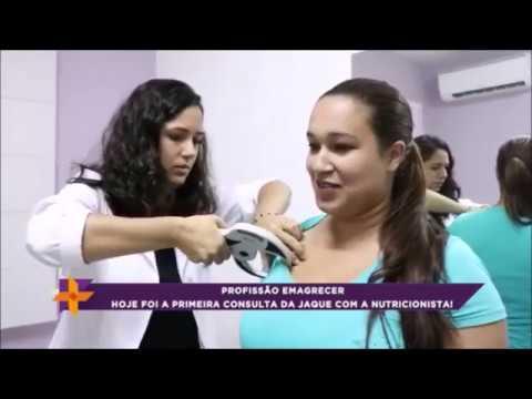 Profissão emagrecer: Jaqueline  consulta nutricionista