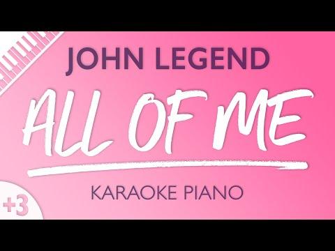 All of Me (Female Key - Piano Karaoke Instrumental) John Legend